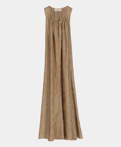 Evening dress with glitter flower print
