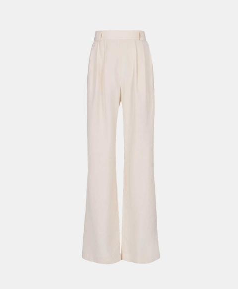 Palazzo trousers in latte modal