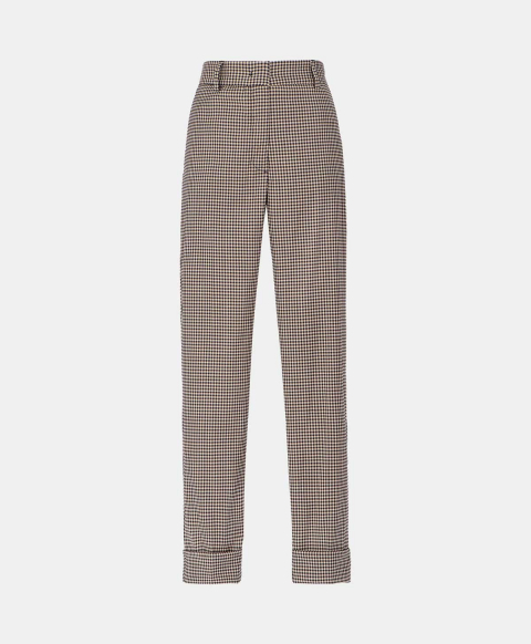 Vichy check cool wool trousers
