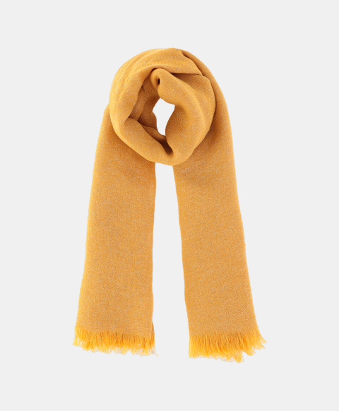 TABACCO SCARF IN LUREX LINEN YELLOW
