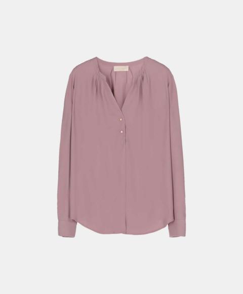 Lavender silk blend blouse