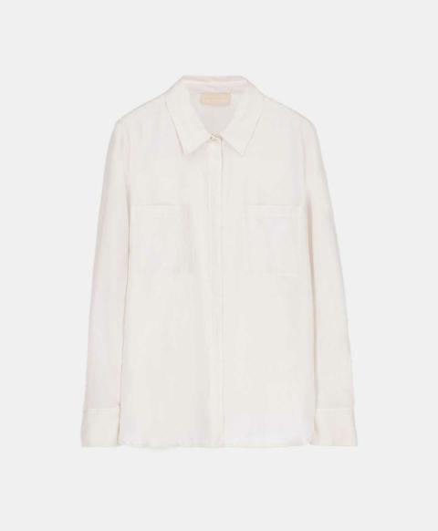 Cream cotton silk shirt