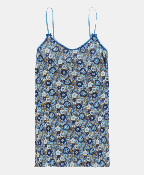 Top with thin straps, 70's flower print
