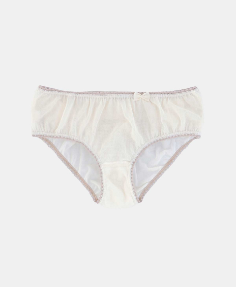 Culotte briefs, ivory tulle