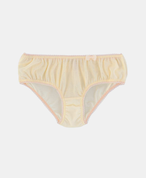 Culotte briefs, pastel yellow tulle