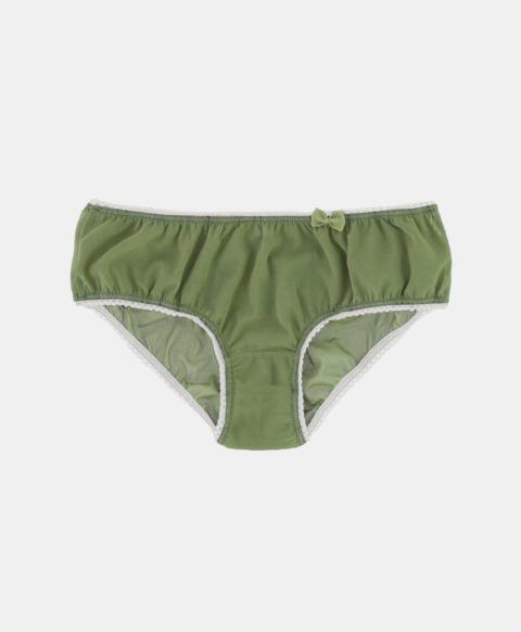 Culotte briefs, green tulle
