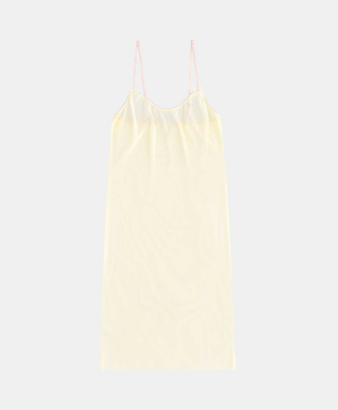 Slip top in yellow tulle