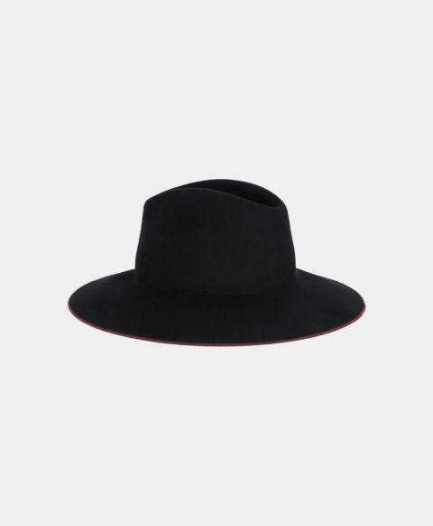 TIRAWA HAT IN FELT  BLACK