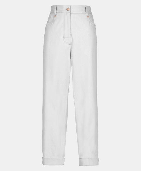 MINERVA TROUSERS IN STRETCH GABARDINE  WHITE