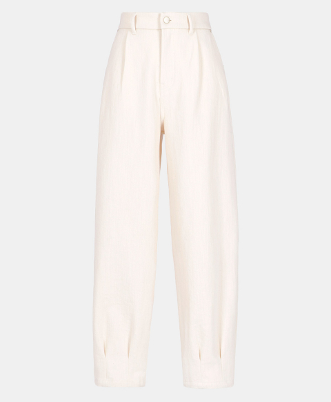 EOLO TROUSERS IN STRETCH DENIM  WHITE