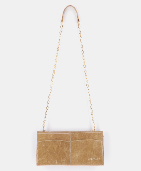 SOAVE BAG IN WORN EFFECT LEATHER ARMY GREEN