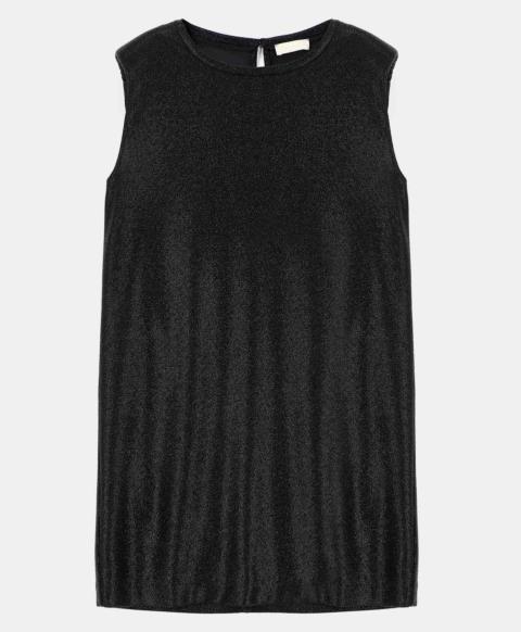 SIRACUSA DRESS IN STRETCH LUREX BLACK