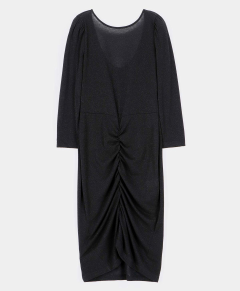 AGRIGENTO DRESS IN LUREX JERSEY BLACK