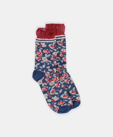 SORESINA SOCKS IN LUREX JACQUARD MULTICOLOR BLUE