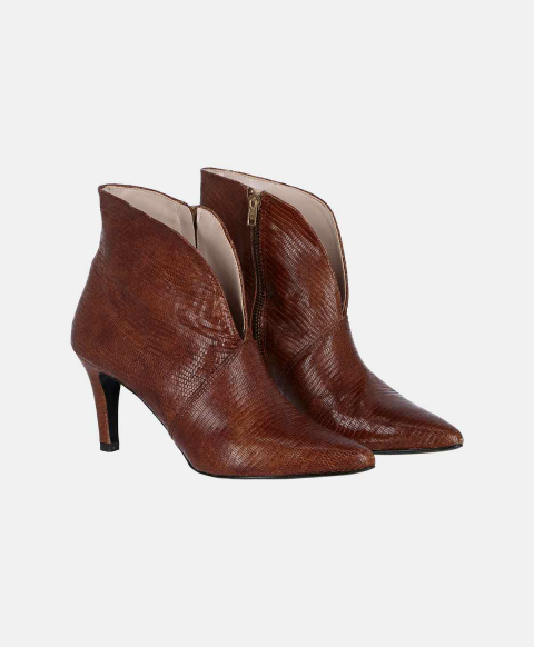 TORINO SHOES IN SCALY LEATHER LEATHER BROWN
