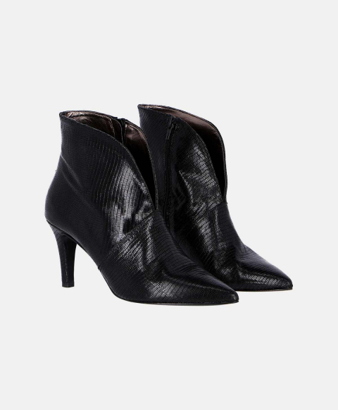 TORINO SHOES IN SCALY LEATHER BLACK
