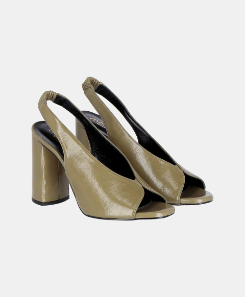 TUBEROSA SHOES IN NAPLAK ECO LEATHER OLIVE GREEN