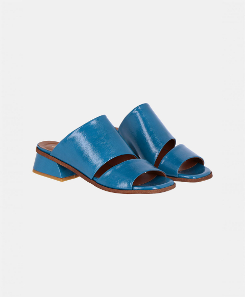 BARLETTA SHOES IN NAPLAK ECO LEATHER BLUE