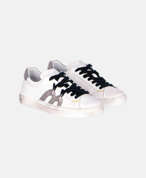 TREVISO LEATHER SNEAKERS WHITE