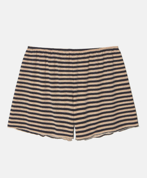 LICIA SHORTS IN LUREX JERSEY PINK/BLUE STRIPES