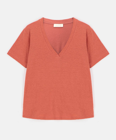 ORISTANO T-SHIRT IN ECO-FRIENDLY COTTON JERSEY PINK
