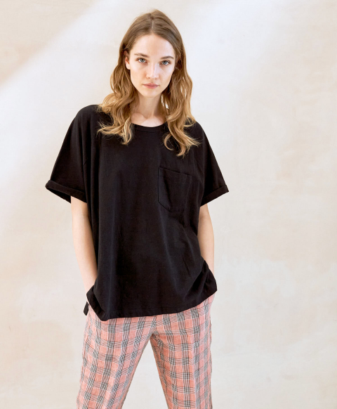 NUORO T-SHIRT IN COTTON JERSEY  BLACK