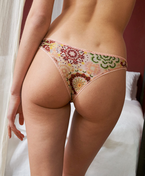 ARCA KNICKERS IN PRINTED CHARMEUSE MULTICOLOR PINK