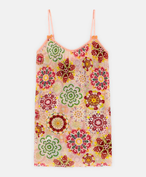 AIRELLE TOP IN PRINTED CHARMEUSE MULTICOLOR PINK