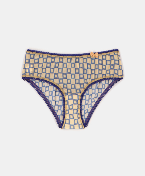AMACA KNICKERS IN PRINTED CHARMEUSE PINK/BLUE