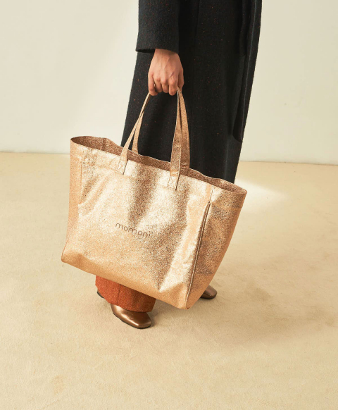 UNI BAG IN LUREX ECO-LEATHER - LIGHT GOLD