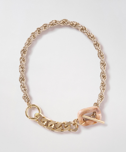 CAVALLO METAL ROPE NECKLACE  - GOLD