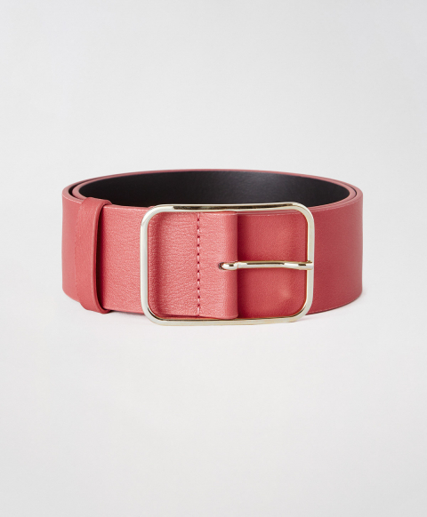 TORCY BELT IN REAL LEATHER - PINK
