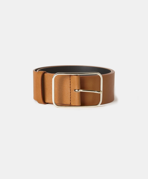 TORCY BELT IN REAL LEATHER - COGNAC