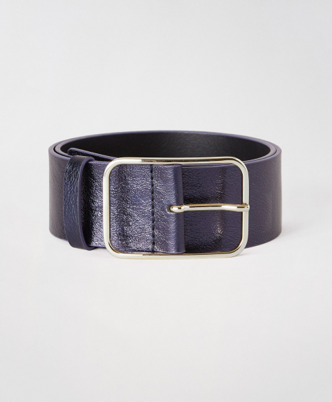 TORCY BELT IN REAL LEATHER - BLUE