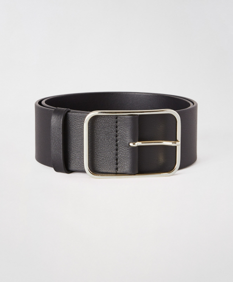 TORCY BELT IN REAL LEATHER - BLACK