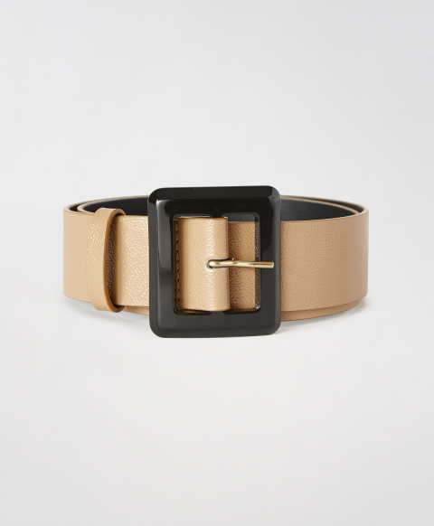 TOLOSA BELT IN  ECO NAPLAK LEATHER - LIGHT BROWN