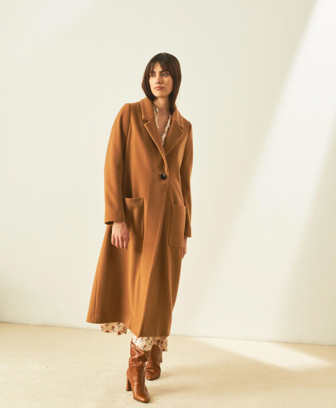 RODEZ COAT IN CASHMERE FABRIC - CAMEL