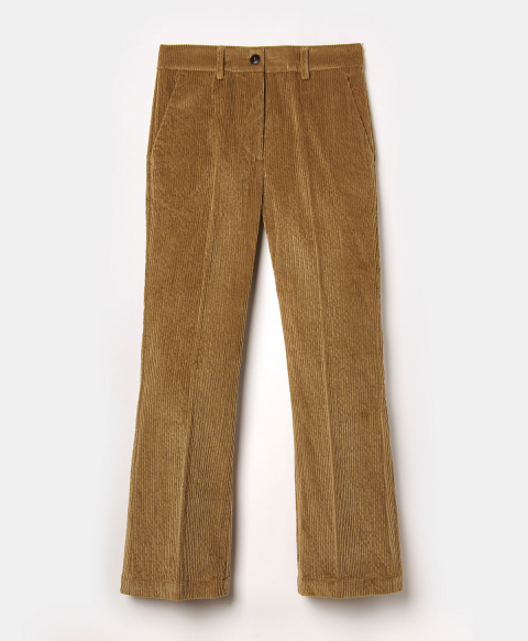 INDRA TROUSERS IN STRETCH  CORDUROY - CIGAR BROWN