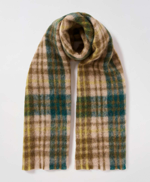 LE PORGE SCARF IN ALPACA AND MOHAIR VELOUR - MULTICOLOR GREEN