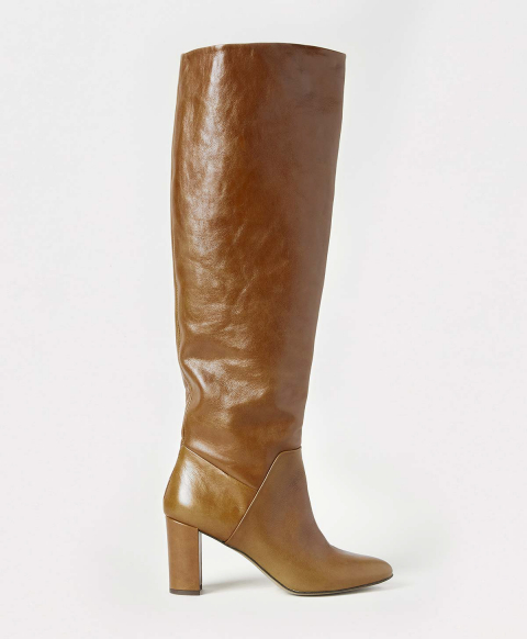 PARIS SHOES IN LEATHER - HONEY