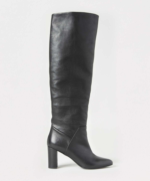 PARIS SHOES IN SOFT NAPPA LEATHER - BLACK