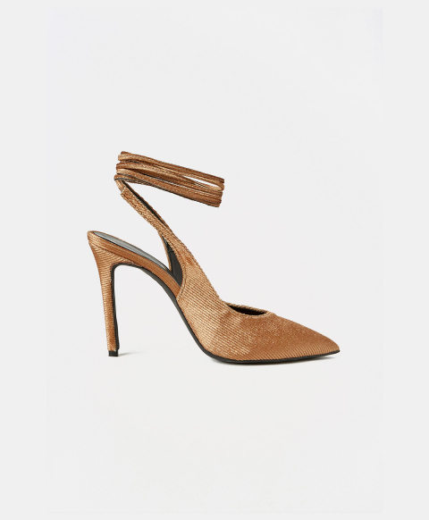 FONTVIEILLE SHOES IN CORDUROY - GOLD