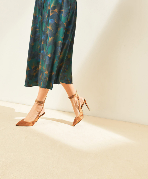 FONTVIELLE SHOES IN CORDUROY - GOLD