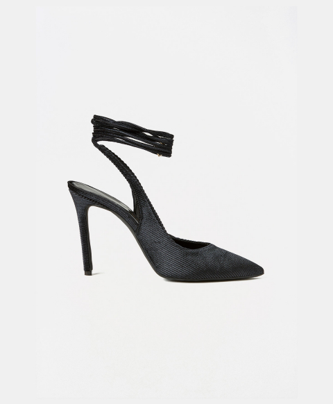 FONTVIELLE SHOES IN CORDUROY - BLACK
