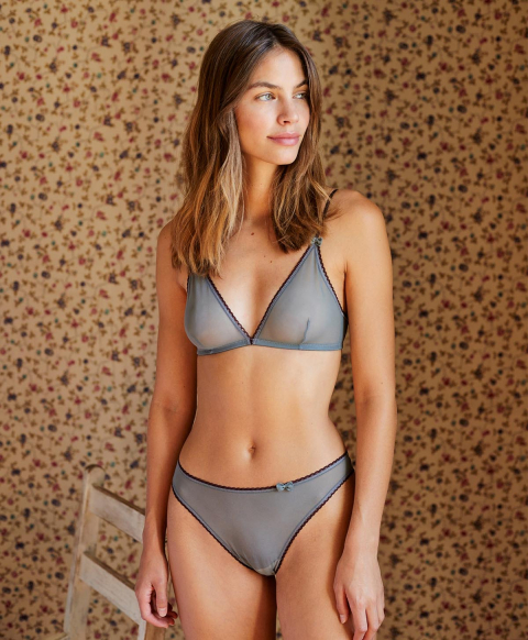ARCA KNICKERS IN STRETCH TULLE - AQUAMARINE