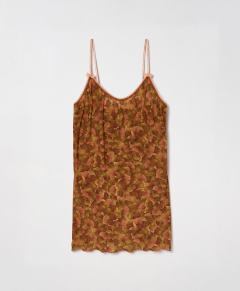 AIRELLE TOP IN PRINTED CHARMEUSE - GREEN PINK