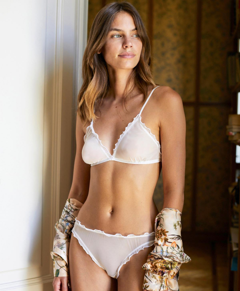 VESPA KNICKERS IN STRETCH TULLE - WHITE