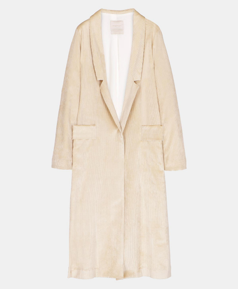 ONICE COAT IN VISCOSE-COTTON CORDUROY  IVORY
