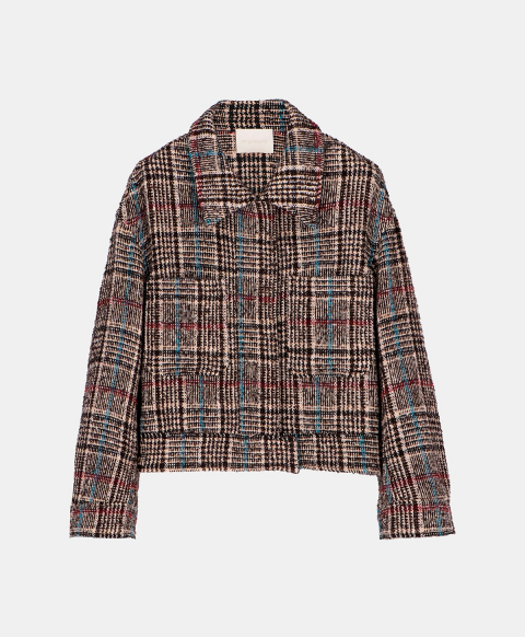 OCCHIO COAT IN WOOL CHECK