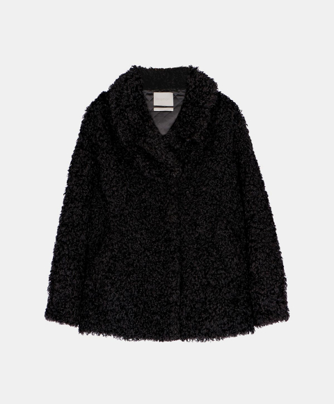 INANNA COAT IN ECO-FUR  BLACK